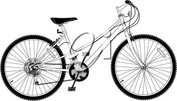 A mountain bike
