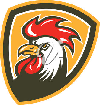 A rooster mascot