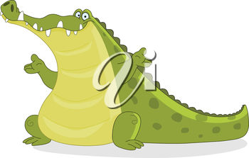 A funny alligator