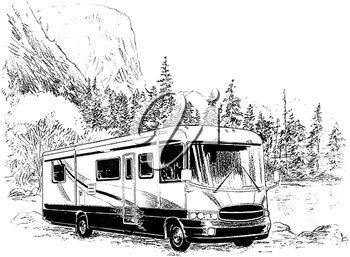 A camper in the country