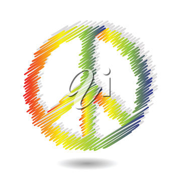 Clipart Illustration Of A Peace Symbol