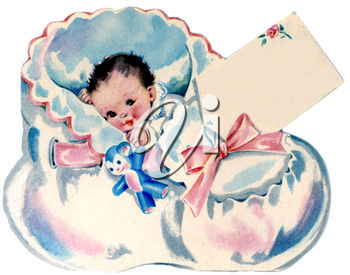 A baby in a bassinet