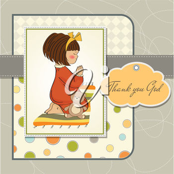 A girl giving thanks