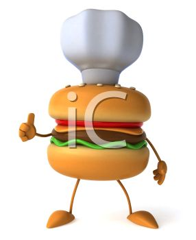 A hamburger chef
