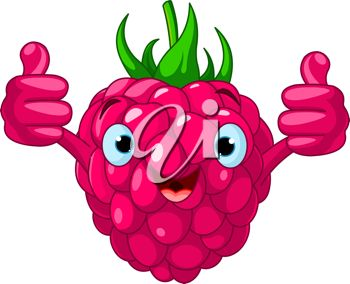 A smiling raspberry