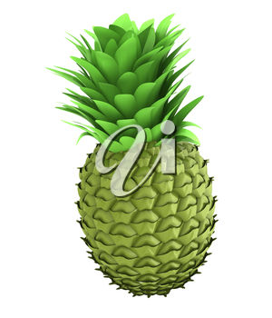 A green pineapple