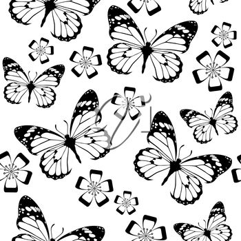 A background of butterflies