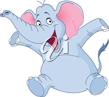 A cartoon elephant