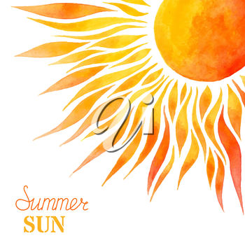 A summer sun background