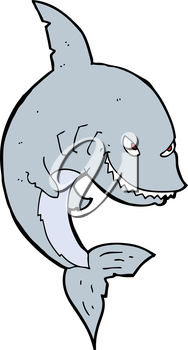 A cartoon shark
