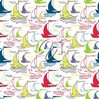 A background with sailboats
