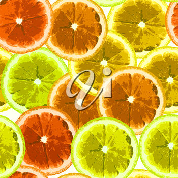A background of citrus fruit