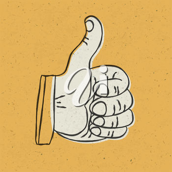 A hand giving a thumbs up