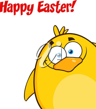 A happy easter message with a bird