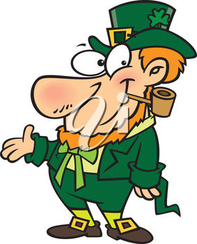 A happy leprechaun