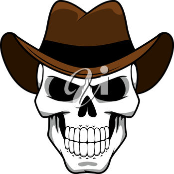 A skull in a hat