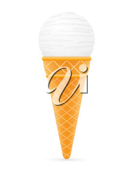 A single-scoop ice-cream cone
