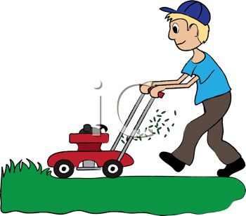 clipart illustration of a man mowing the lawn rh clipartguide com lawn mowing clipart lawn mowing clipart black and white