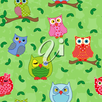Owls on a background