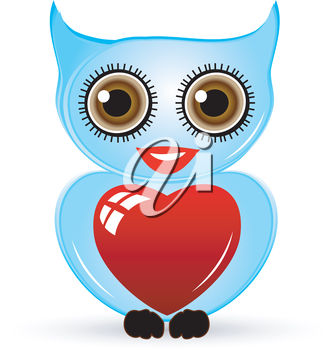 An owl with a valentine