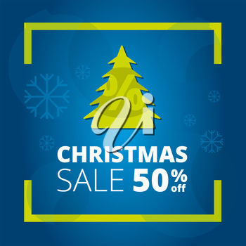 Clipart illustration of a promotional Christmas sale image.