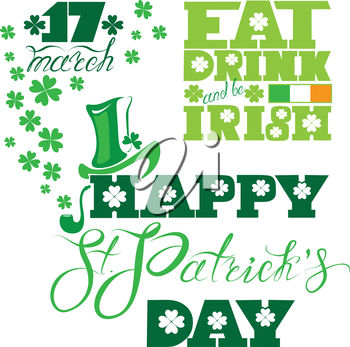 Celebrate St. Patrick's Day on March 17th Ilustration