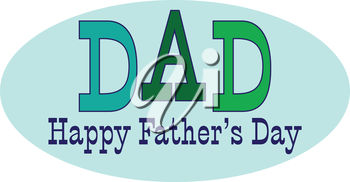 Father's Day Sign with the word 'Dad'