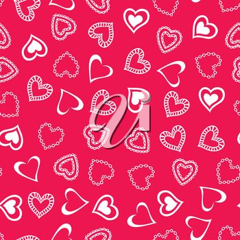 Tiled Valentine's Day Background