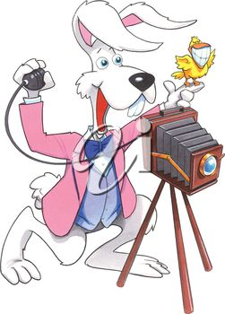 Photographer Easter Bunny Illustration