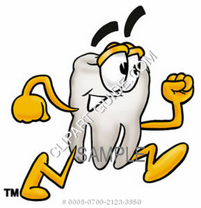 Cartoon Tooth Character