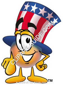 Cartoon American Hat Character
