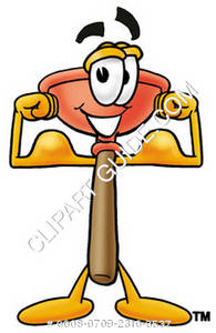 Cartoon Plunger Character for Plumbing
