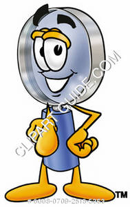 Magnifying Glass Character Pointing