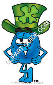 Cartoon Water Drop with Irish Hat Clipart Picture