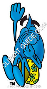 Cartoon Water Drop Character Swimming Clipart Picture