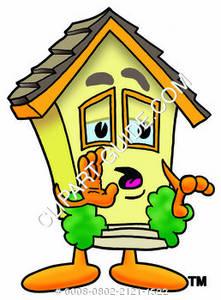 Cartoon House Character Whispering Clipart Picture