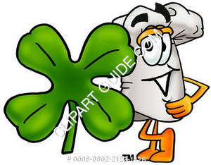 Cartoon Chef With A Shamrock
