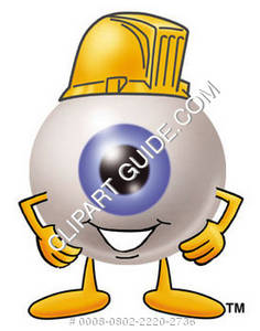 Cartoon Eye Wearing A Hard Hat
