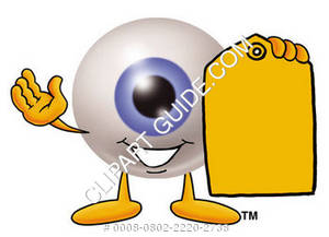 Cartoon Eye Holding A Price Tag