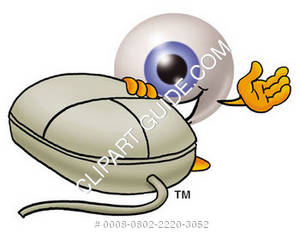 Cartoon Eye With A Computer Mouse