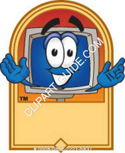 Cartoon Computer Logo