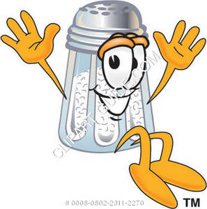 Cartoon Salt Shaker Jumping