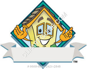 Cartoon House Logo Template
