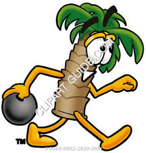 Cartoon Palm Tree Bowling