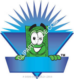 Illustration of Cartoon Dollar Character Posing with Logo