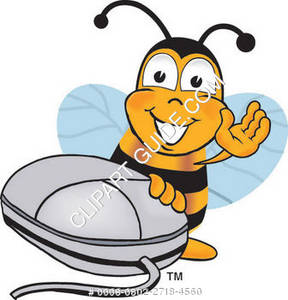 Cartoon Bee With A Mouse