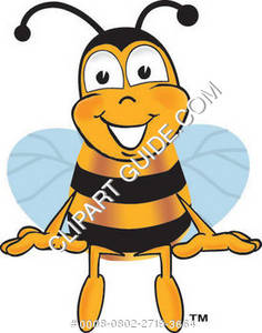 Cartoon Bee Sitting