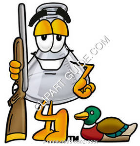 Cartoon Beaker with Hunting Gear