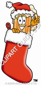 Illustration of Cartoon Beer Mug Character in a Stocking