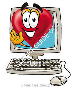 Cartoon Heart in Computer